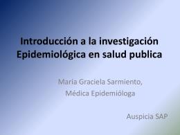 Introducción a la investigación Epidemiológica en