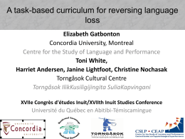 A Task-based curriculum for reversing language