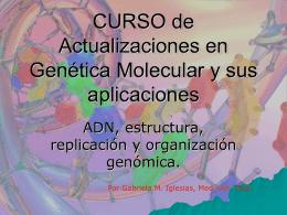 CURSO de Actualizaciones en Genética Molecular y