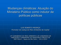 Mudanças climáticas: Atuação do Ministério Público