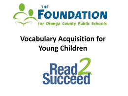 Vocabulary Acquisition for Young Children