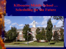 Worthington Middle Schools … Scheduling for the