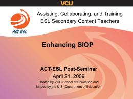 Presentation Title - ACT-ESL