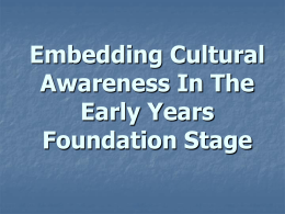 Embedding Cultural Awareness In The Early Years