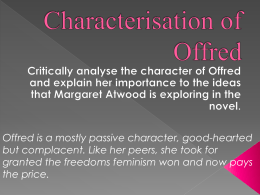 Characterisation of Offred