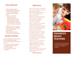Enhanced Milieu Teaching - Summitcommunityresource