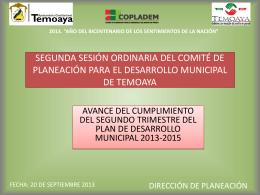 PRIMERA SESIÓN ORDINARIA DEL COMITÉ DE PLANEACIÓN