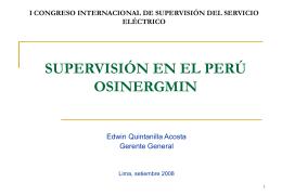 Curso de Extensión Universitaria OSINERG