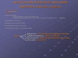INVESTIGACIÓN INTERDISCIPLINAR SOBRE SINESTESIA: