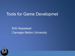 Tools for Game Developmet