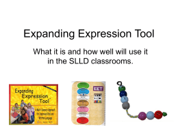 Expanding Expression Tool Created by Sara Smith,