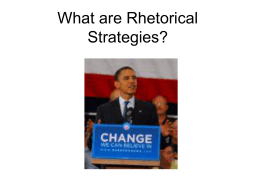 Rhetorical Devices - Anchorage School District
