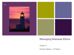 Managing Business Ethics Chapter 5 -