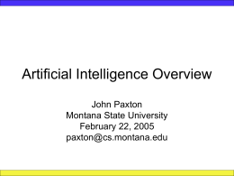 Artificial Intelligence Overview