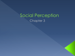 Social Perception - Ashton Southard