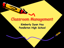 Classroom Management - Anderson School District