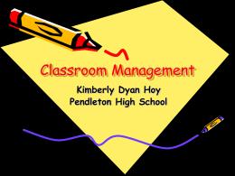 Classroom Management - Anderson School District
