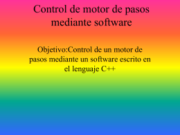 Control de motor de pasos mediante software