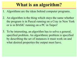 What is an Algorithm?