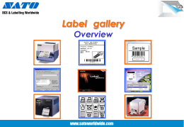 Label Gallery Overview