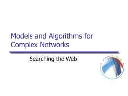 Information Networks - Université de Genève