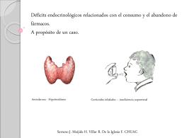 Déficits endocrinológicos relacionados con el
