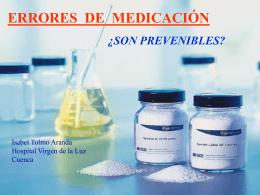 ERRORES DE MEDICACIÓN ¿Son prevenibles?