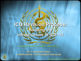 ICD Revision Process: Building the infrastructure