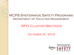 Systemwide Safety Programs