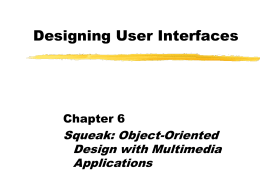 Designing User Interfaces