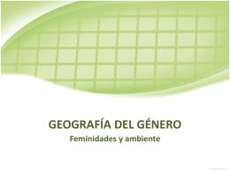 GEOGRAFÍA DEL GÉNERO
