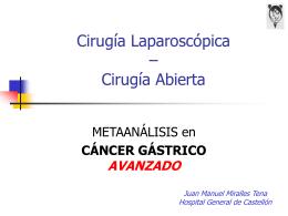 Metaanálisis Cáncer Gástrico Avanzado