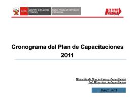 Diagnóstico para el Plan de Fortalecimiento de