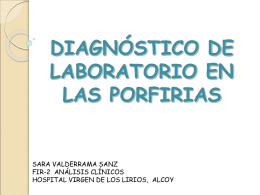 DIAGNÓSTICO DE LABORATORIO EN LAS PORFIRIAS
