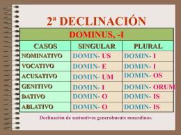 Declinación 2ª (nivel A)