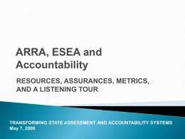ARRA: Confusion and Complexity - NEA