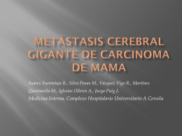 MIELOMA MÚLTIPLE vs METÁSTASIS CEREBRALES