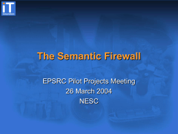 The Semantic Firewall