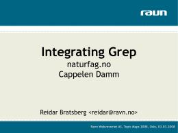 Integrating Grep - naturfag.no & Cappelen Damm