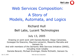Web Services Composition: The Promise and the