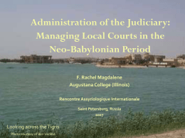 Administration of the Judiciary: Managing Local