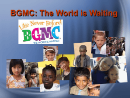 Where Your BGMC $ Are Going