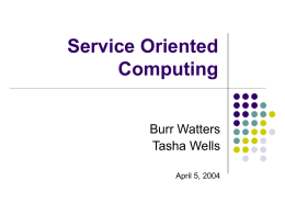What is Service Oriented Computing?