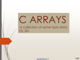 C programming ppt slides, PDF on arrays