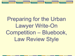 Bluebooking for Law Review Footnotes