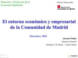El entorno económico y empresarial de la Comunidad