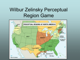 Wilbur Zelinsky Perceptual Region Game