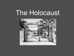 The Holocaust - West Morris Mendham High School