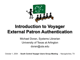 Introduction to Voyager Third