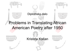 Diplomsko delo Problems in Translating African